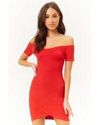 Forever 21 - Women's Off-the-shoulder Mini Dress - Lyst