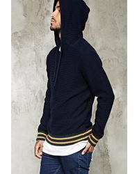 Forever 21 - Stripe-trimmed Knit Hoodie - Lyst