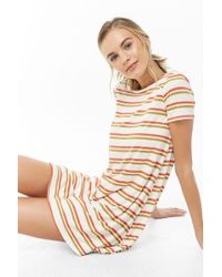 a47435fcdea Forever 21 - Striped T-shirt Swing Dress - Lyst