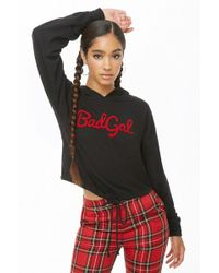 Forever 21 - Bad Gal Graphic Hoodie - Lyst