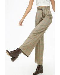 Forever 21 - Glen Plaid Palazzo Trousers - Lyst