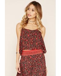 Forever 21 - R By Raga Floral Print Top - Lyst