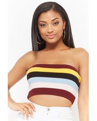Forever 21 - Striped Tube Top - Lyst