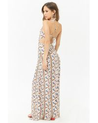 Forever 21 - Cutout Ornate Maxi Dress - Lyst