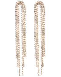 Forever 21 - Rhinestone Duster Earrings , Gold/clear - Lyst