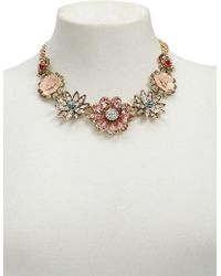 FOREVER21 - Rhinestone Floral Statement Necklace - Lyst