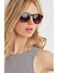 c419d85c753 Forever 21 Round Aviator Sunglasses in Gray - Lyst
