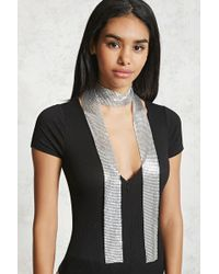Forever 21 - Skinny Chainmail Scarf - Lyst