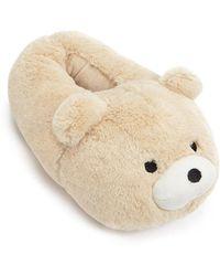 FOREVER21 - Faux Fur Teddy Bear Slippers - Lyst