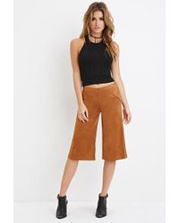 Forever 21 - Faux Suede Culottes - Lyst