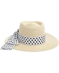 Forever 21 - Polka Dot-band Straw Boater Hat - Lyst