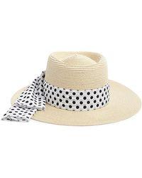 Forever 21 - Polka Dot-band Straw Boater Hat - Lyst