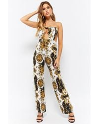 Forever 21 - Baroque Tube Cutout Jumpsuit - Lyst