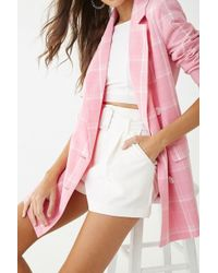 Forever 21 - Vero Moda Double-breasted Plaid Blazer - Lyst