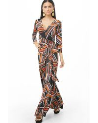 Forever 21 - Geo-striped Flare Jumpsuit - Lyst