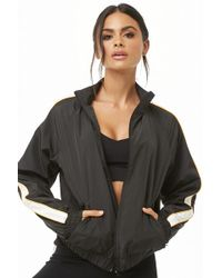 Forever 21 - Active Striped-sleeve Windbreaker - Lyst