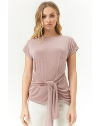 Forever 21 - Women's Tie-front Stretch-knit Top - Lyst