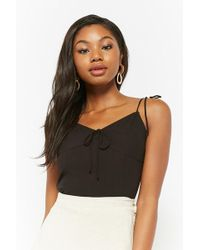 Forever 21 - Smocked Self-tie Cami - Lyst