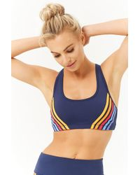 231c09afb8 Forever 21 - High Impact - Striped Sports Bra - Lyst