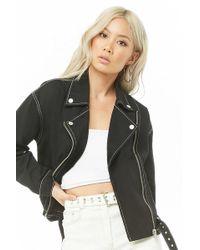 Forever 21 - Women's Denim Moto Jacket - Lyst