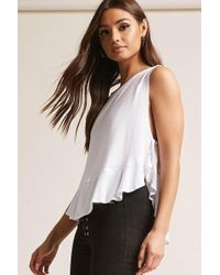 Forever 21   High-low Ruffle Top   Lyst