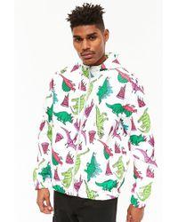 Forever 21 - Dinosaur Print Hooded Jacket - Lyst