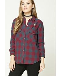 Forever 21 | Distressed Buffalo Check Shirt | Lyst
