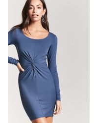 4565d19c4a0 Forever 21 - Women s Twist-front Bodycon Dress - Lyst