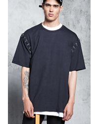 Forever 21 - Grommet-stitch Sleeve Tee - Lyst