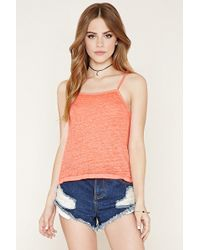 Forever 21 - Burnout Crop Top - Lyst