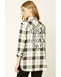 Forever 21   Rock N Roll Check Shirt   Lyst