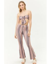 Forever 21 - Schlaghose mit Muster - Lyst