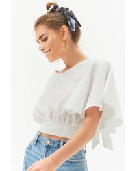 Forever 21 - Tie-back Butterfly-sleeve Top - Lyst
