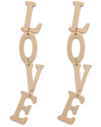 Forever 21 - Love Drop Earrings - Lyst
