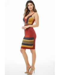 Forever 21 - Faux Suede Colorblock Dress - Lyst