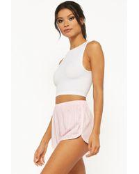 Forever 21 - Vertical Striped Pyjama Shorts - Lyst