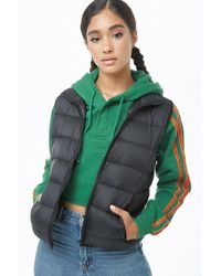 Forever 21 - Stand-collar Padded Vest - Lyst
