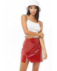 Forever 21 - Women's Pull-ring Vinyl Mini Skirt - Lyst