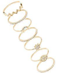 Forever 21 - Rhinestone-embellished Stackable Ring Set - Lyst