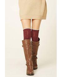 Forever 21 | Over-the-knee Wool-blend Socks | Lyst