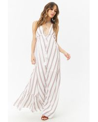 Forever 21 - Striped Maxi Dress - Lyst