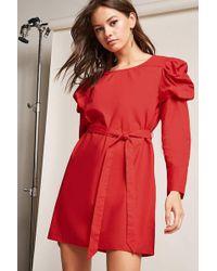 Forever 21 - Ruffle Shoulder Dress - Lyst
