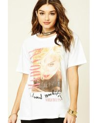 Forever 21 - Madonna Graphic Tour Tee - Lyst