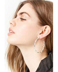 Forever 21 - Twisted Hoop Earrings - Lyst