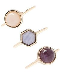 Forever 21 - Geo Faux Stone Ring Set - Lyst