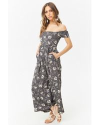 Forever 21 - Women's Anm Off-the-shoulder Jumpsuit - Lyst