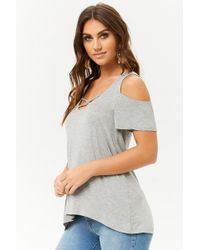 e41673776eaa2a Lyst - Boohoo Carolyn Caged Cold Shoulder Top in Black