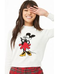 ab100c60620 Forever 21 - Women's Minnie Mouse Graphic Jumper Jumper - Lyst