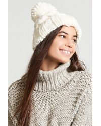 Forever 21 - Chunky Cable-knit Beanie Hat - Lyst