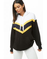 Forever 21 - Active Chevron Colorblock Hoodie - Lyst
